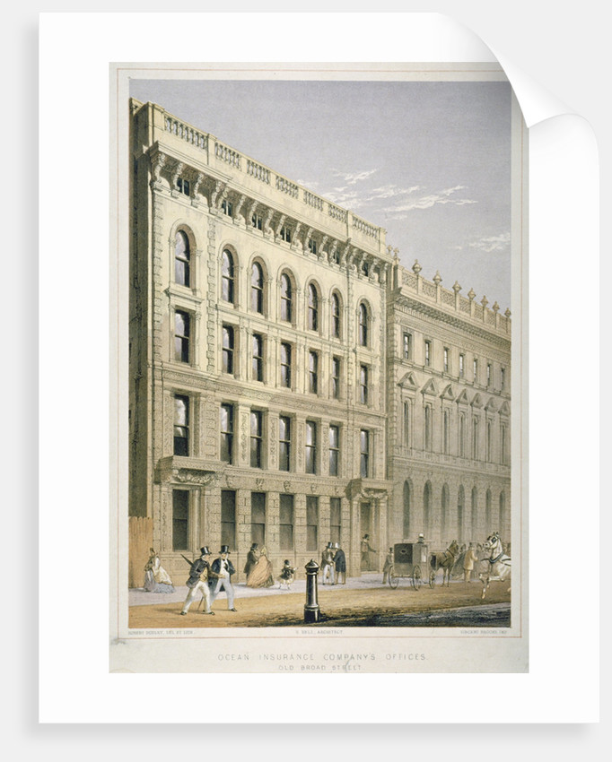 View of the Ocean Insurance Company's Offices, Old Broad Street, City of London by Robert Dudley