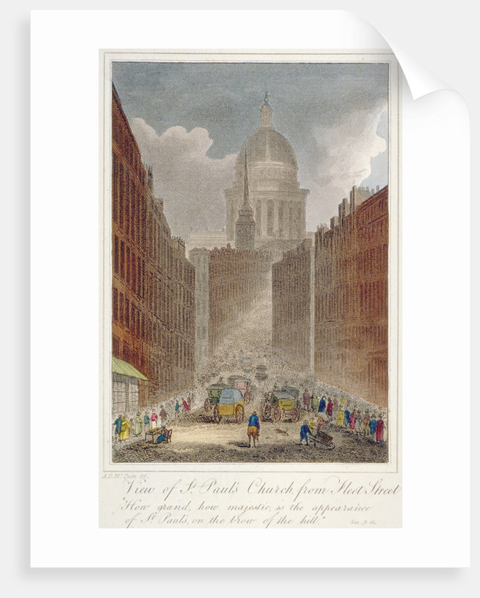View along Fleet Street towards St Paul's Cathedral, City of London by Anonymous