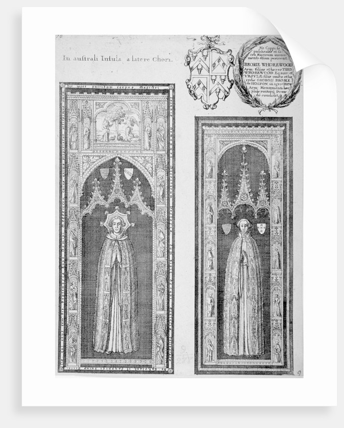 Brasses of John Newcourt and Brome Whorewood in old St Paul's Cathedral, City of London by