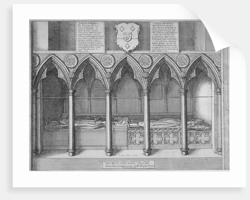 Tombs of two Bishops of London in old St Paul's Cathedral, City of London by