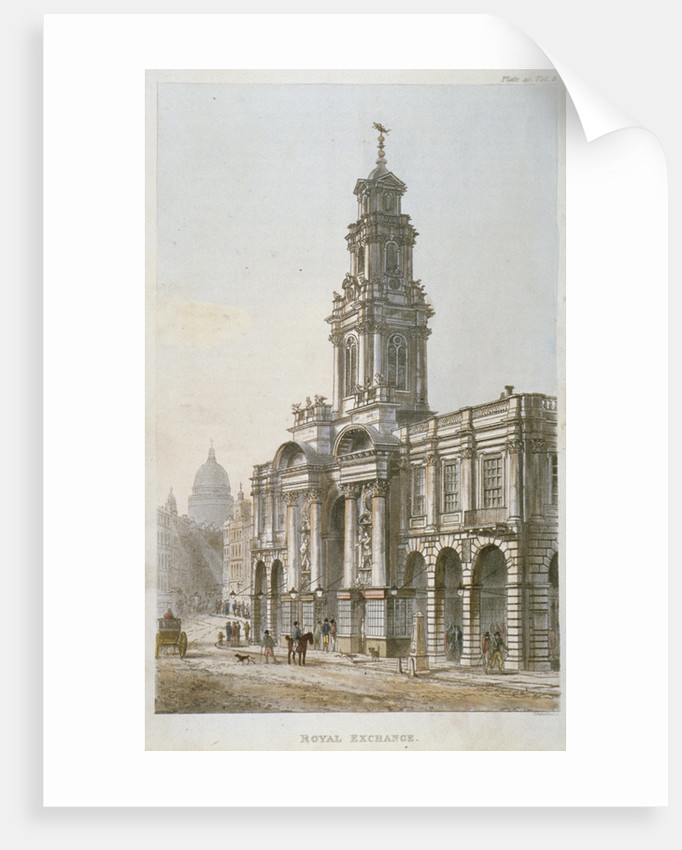 South-east view of the Royal Exchange's south front, City of London by Thomas Sutherland
