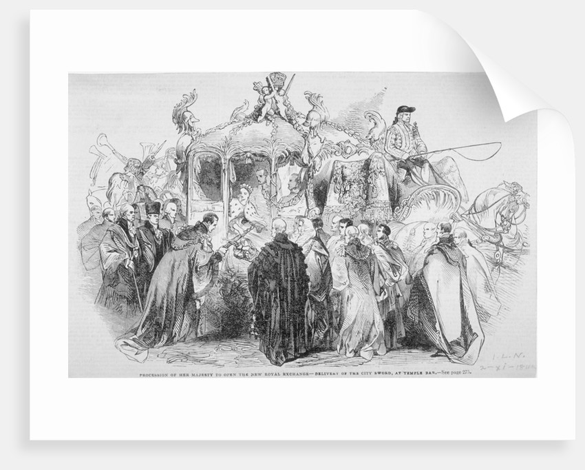 Procession of Queen Victoria to open the Royal Exchange, City of London by Anonymous