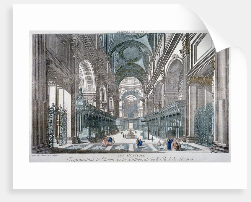 Interior view of St Paul's Cathedral showing the choir, City of London by