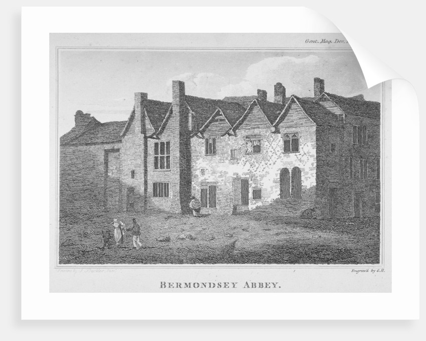 The Abbey of St Saviour, Bermondsey, Southwark, London by George Henry Andrews