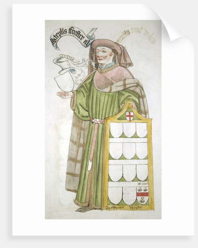 Stephen Forster, Lord Mayor of London 1454-1455, in aldermanic robes by Roger Leigh