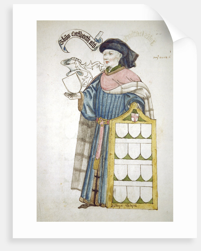 Thomas Catteworth, Lord Mayor of London 1443-1444, in aldermanic robes by Roger Leigh