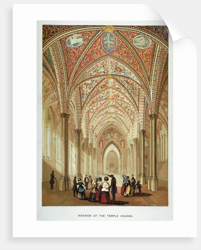 Interior view of Temple Church, City of London by Anonymous
