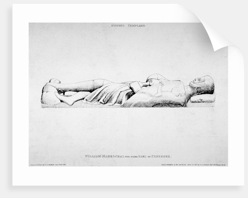 Effigy of William Marshall, Earl of Pembroke, Temple Church, City of London by Charles Alfred Stothard