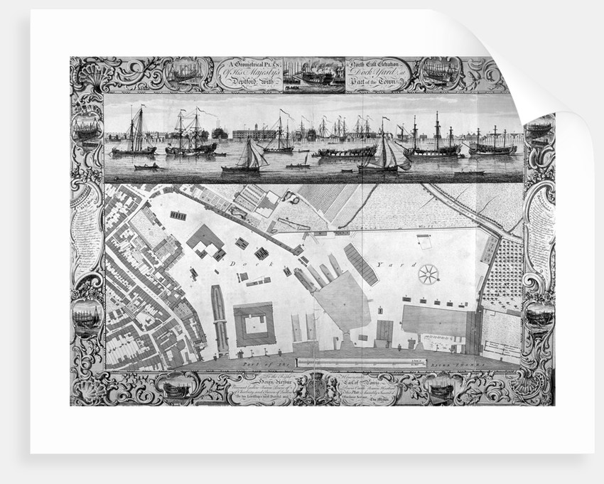 Deptford Docks, London by Pierre-Charles Canot