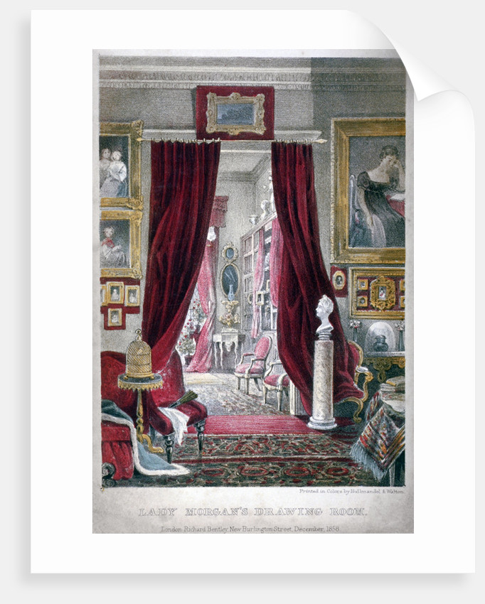 Lady Morgan's drawing room, no 11 William Street, Lowndes Square, Chelsea, London by Anonymous
