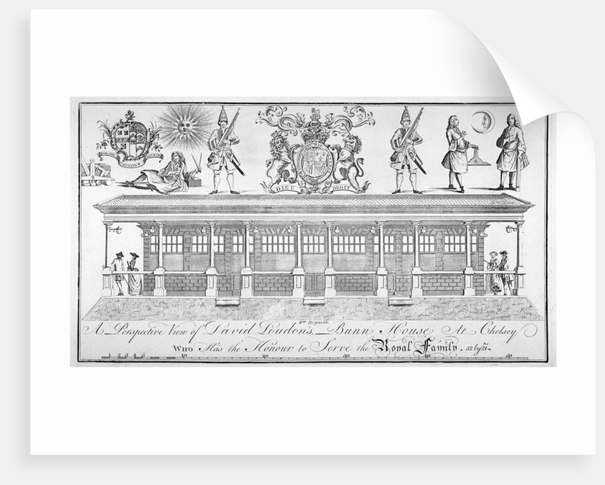 View of David Loudon's Bun House, Pimlico Road, Chelsea, London by Anonymous
