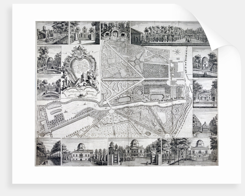 Map of Chiswick in the London borough of Hounslow by John Rocque