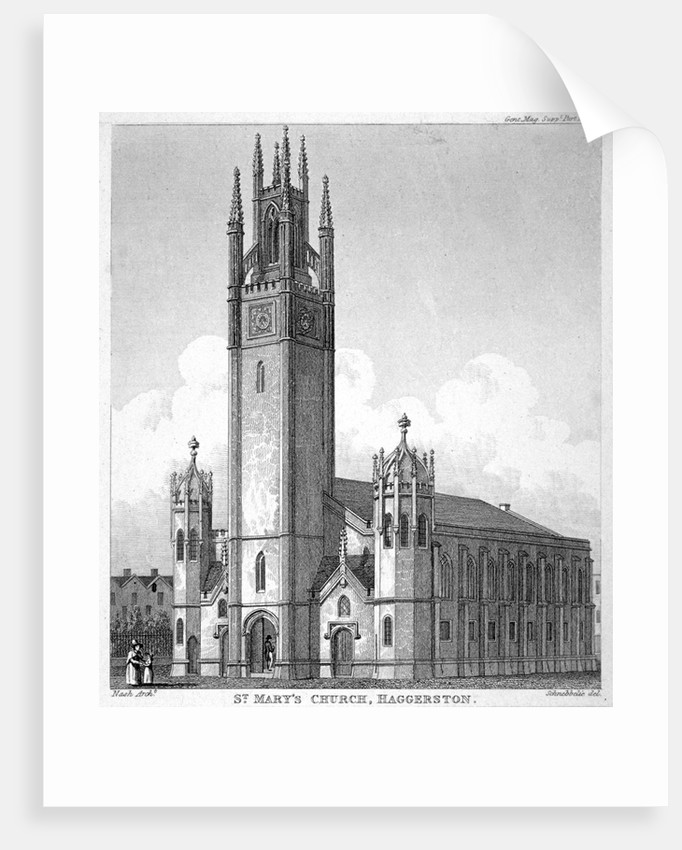 Church of St Mary Haggerston, Hackney, London by Anonymous