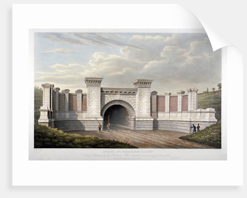 Primrose Hill Tunnel of the London and Birmingham Railway by C Rosenberg