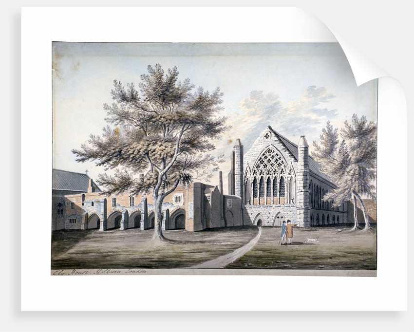 View of Ely House in Ely Place, Holborn, London by RB Godfrey