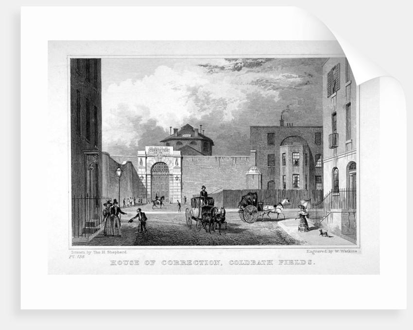 Cold Bath Fields Prison, Finsbury, London by