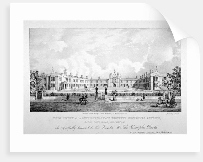 The Metropolitan Benefit Societies' Asylum, Balls Pond Road, Islington, London by Anonymous