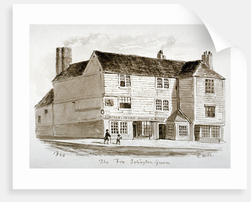 View of the Old Fox Inn, Islington, London by CH Matthews