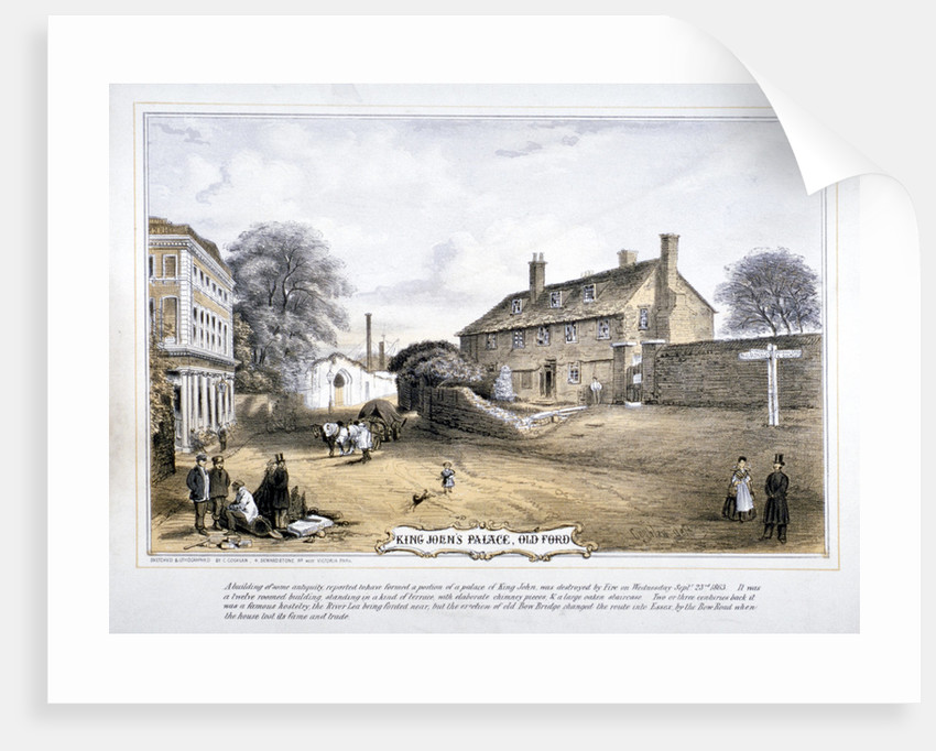 View of King John's Palace, Old Ford, Poplar, London by C Coghlan