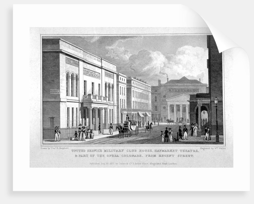 Charles Street, Westminster, London by W Wallis