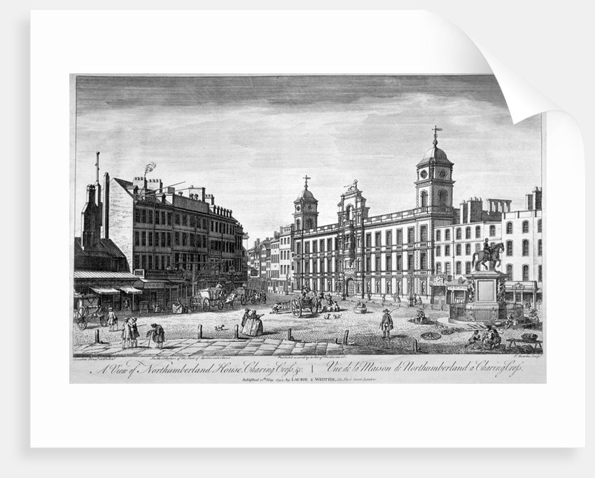 View of Northumberland House, Charing Cross, Westminster, London by John Bowles
