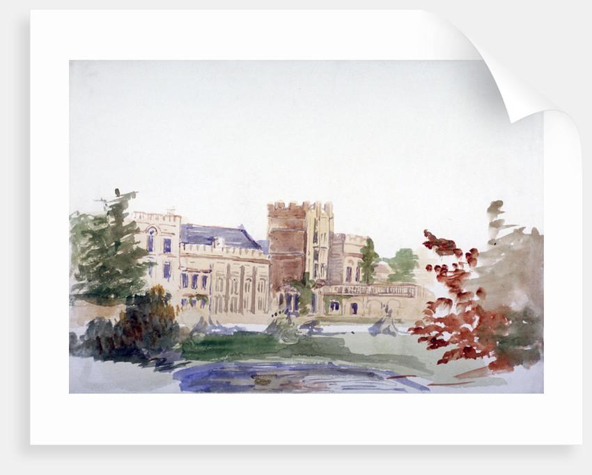 Castle seen through trees by Anna Lea Merritt