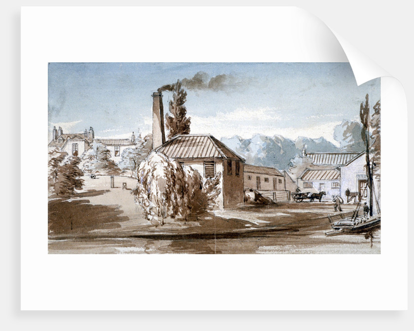 View of Stephenson and Giles Starch Works at Old Ford, Bow, London by