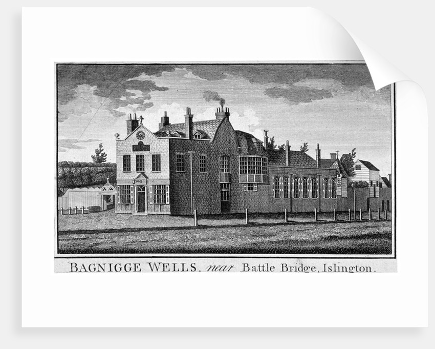 Bagnigge Wells near Battle Bridge, London by Anonymous