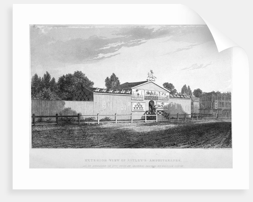 Astley's Amphitheatre, Westminster Bridge Road, Lambeth, London by Charles John Smith
