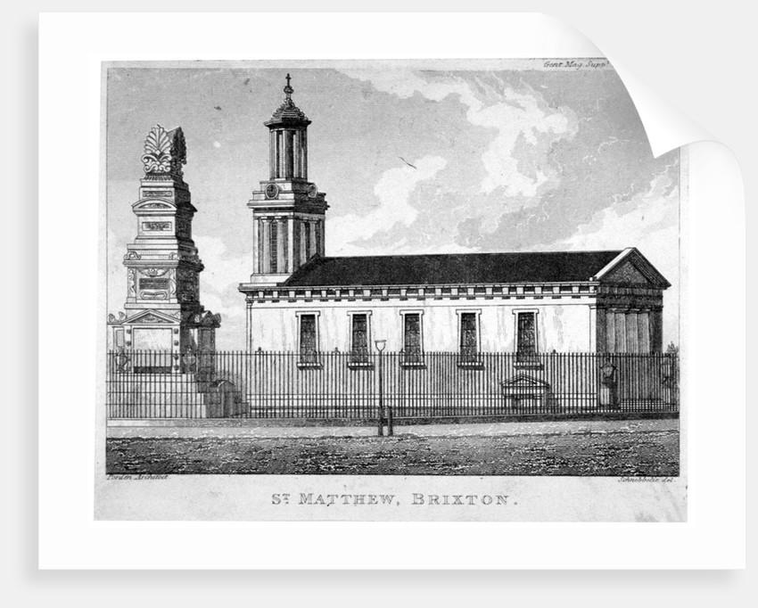 Church of St Matthew, Brixton, Lambeth, London by Anonymous