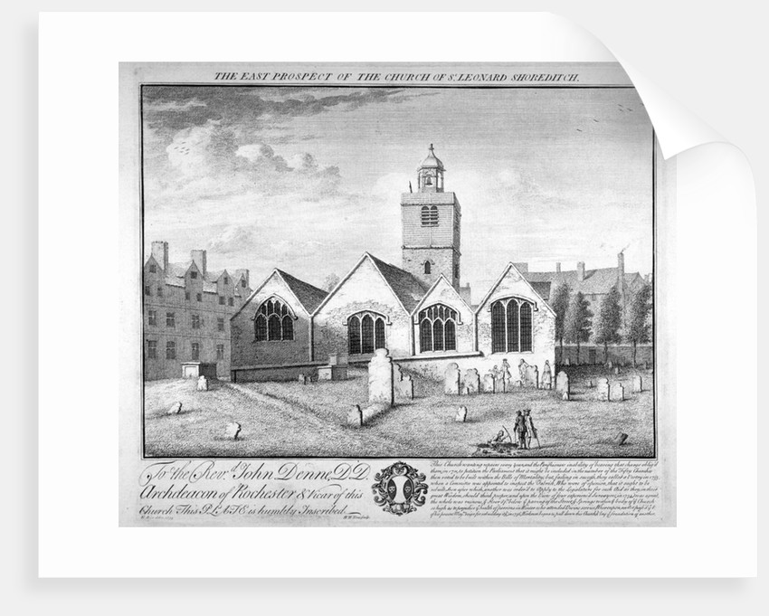 Old St Leonard's Church, Shoreditch, London by William Henry Toms
