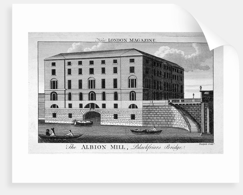 View of Albion Mill, Southwark, from the Thames by Eastgate