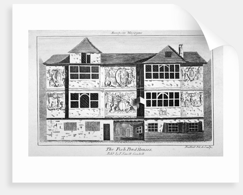 View of the Fish Pond Houses, Bankside, Southwark, London by Thomas Prattent