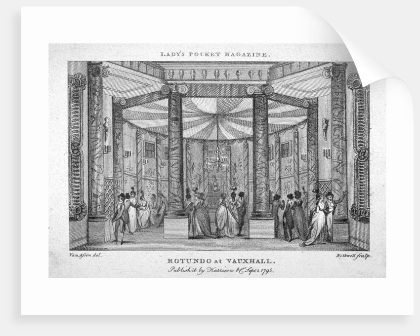 Interior view of the Rotunda at Vauxhall Gardens, Lambeth, London by Thomas Rothwell