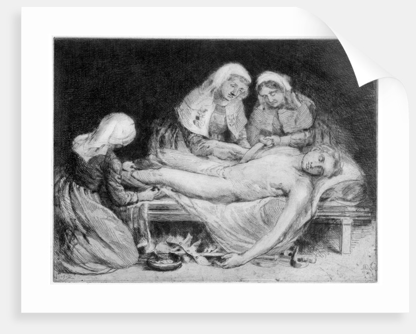 Three Nurses tending a Wounded Soldier by Anna Lea Merritt
