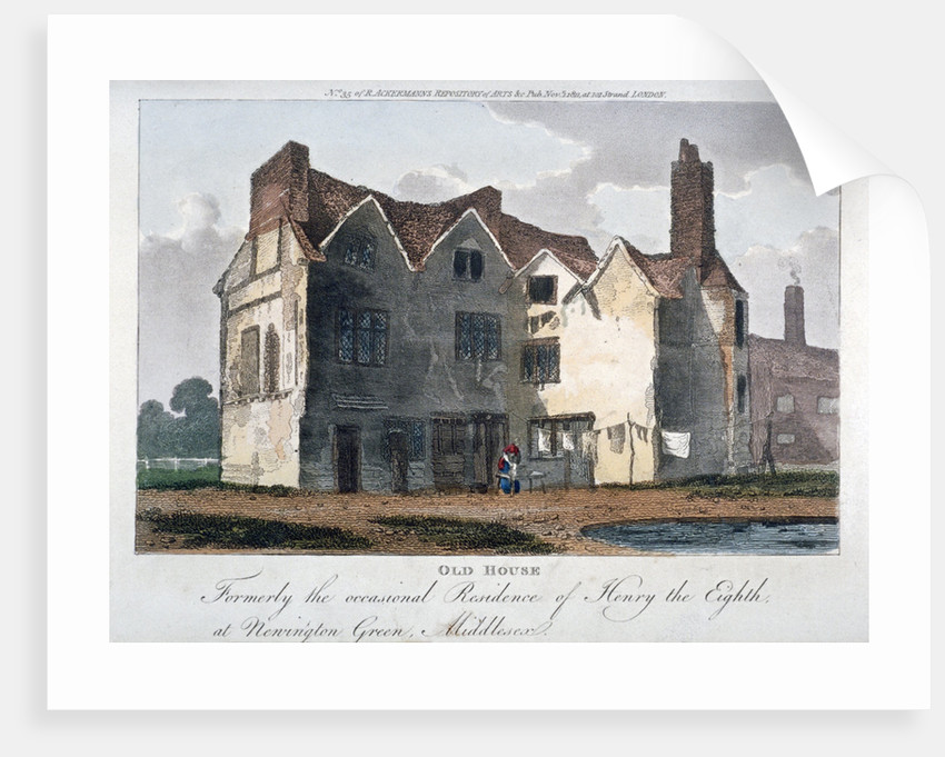 Old house, formerly the occasional residence of Henry VIII at Newington Green, London by Anonymous