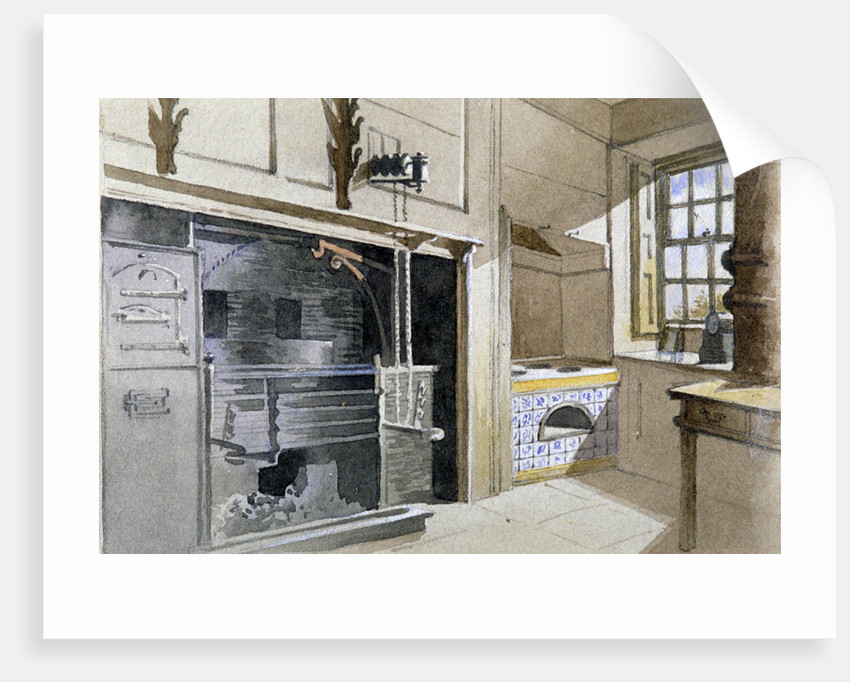 Kitchen range and Dutch oven, no 21 Austin Friars Street, City of London by John Crowther