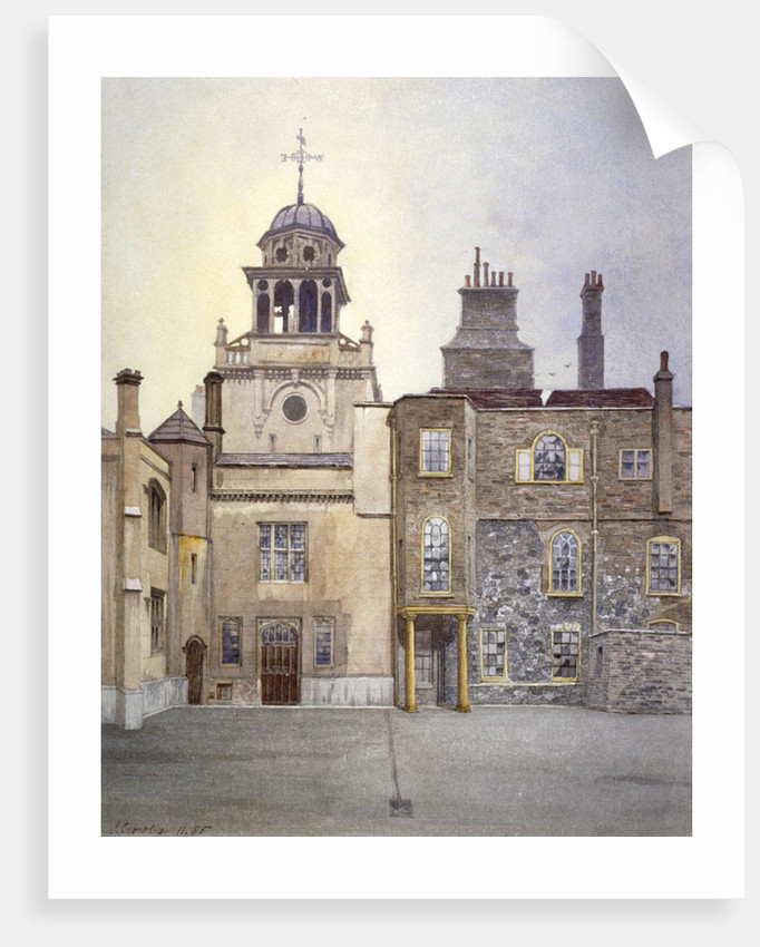 View of the north side of Chapel Tower, Charterhouse, London by John Crowther