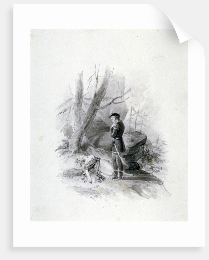 Fitz-James and the dying Blanche of Devan by Henry Corbould