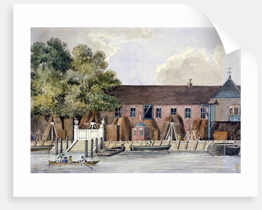 View of the Steelyard from the River Thames, Upper Thames Street, London by