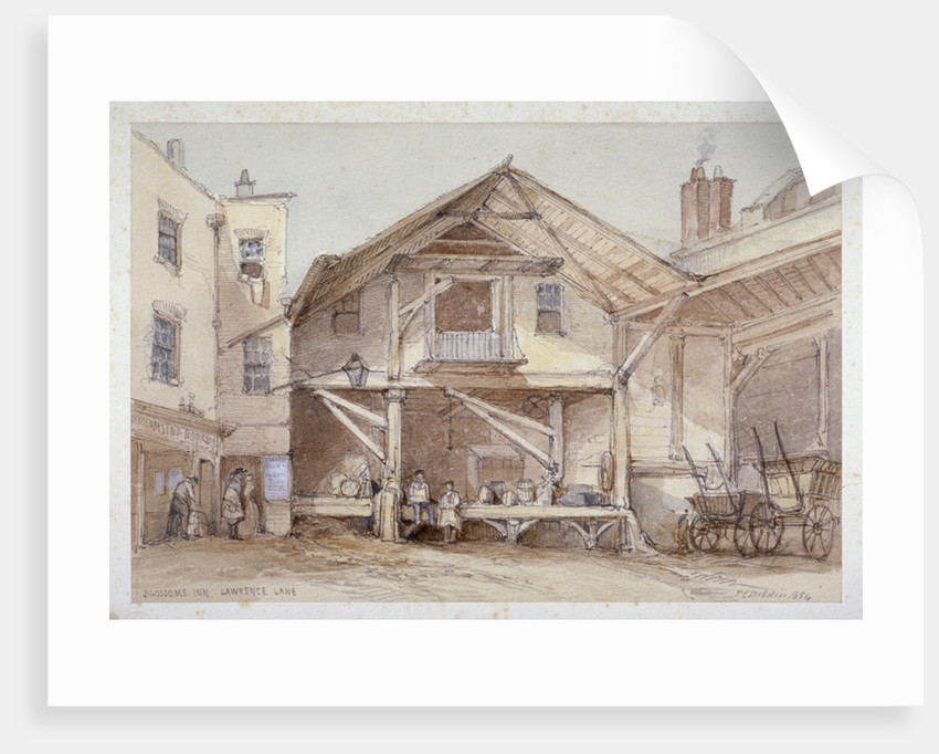Blossoms Inn, Lawrence Lane, City of London by Thomas Colman Dibdin