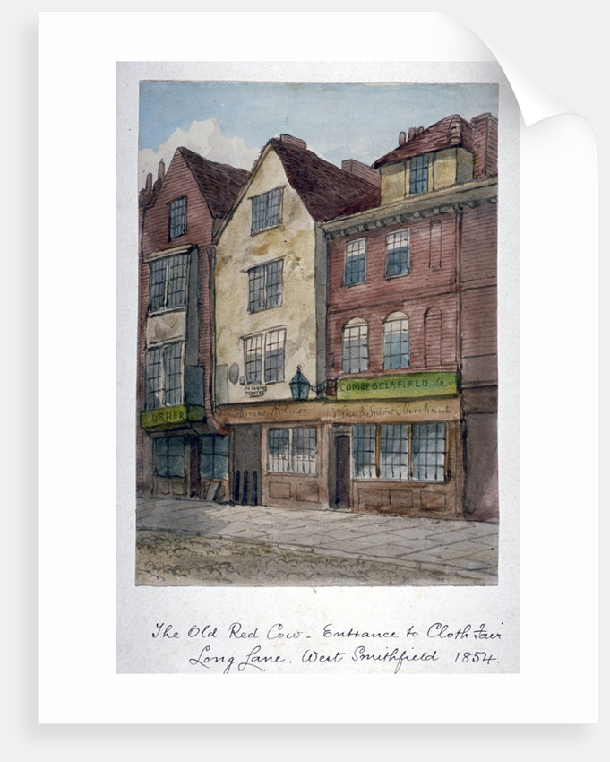 View of the Old Red Cow Inn in Long Lane, Smithfield, City of London by Anonymous