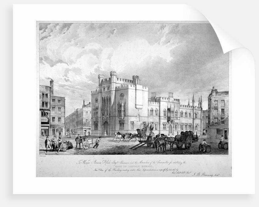 View of the City of London School, Honey Lane Market, Milk Street, City of London by