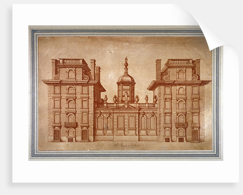 View of St Paul's School, City of London by Anonymous