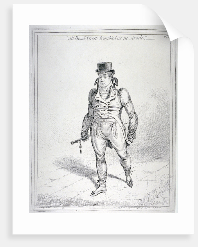 All Bond Street trembled as he strode by James Gillray
