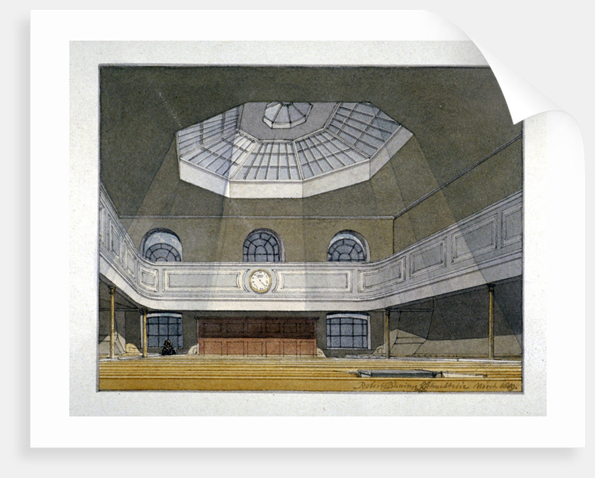 Interior view of the King's Weigh House, Eastcheap, City of London by Robert Blemmell Schnebbelie