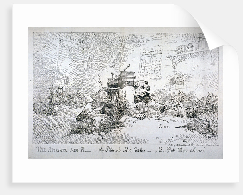 The apostate Jack R - the political rat catcher - NB. Rats taken alive! by Thomas Rowlandson