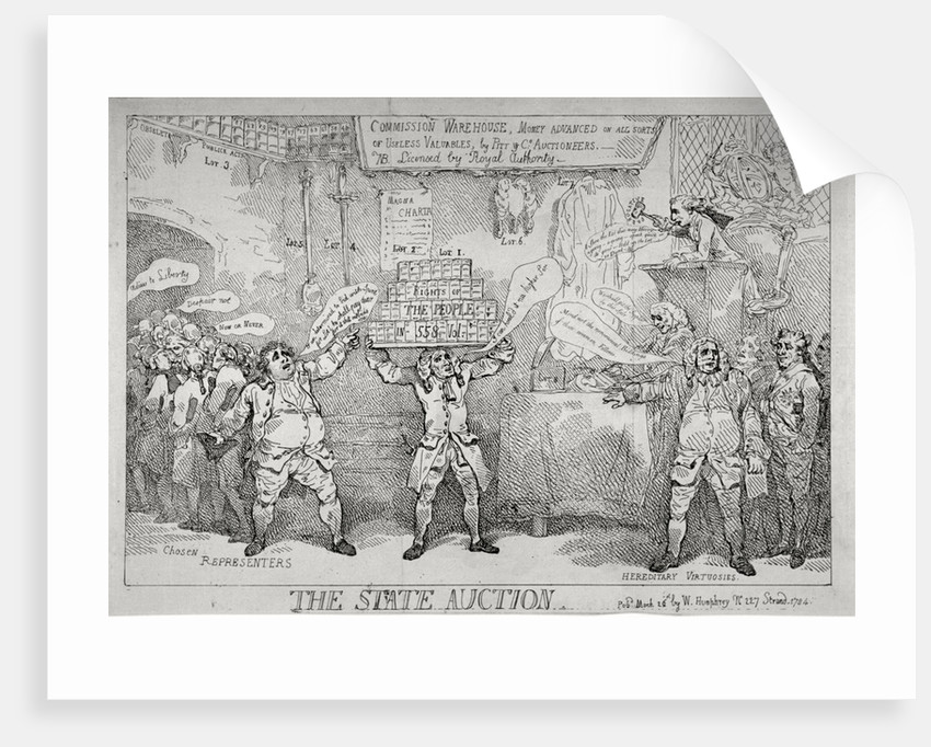 The State Auction by Thomas Rowlandson
