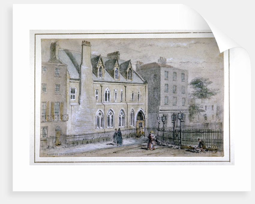 View of a nunnery in Osnaburgh Street, London by