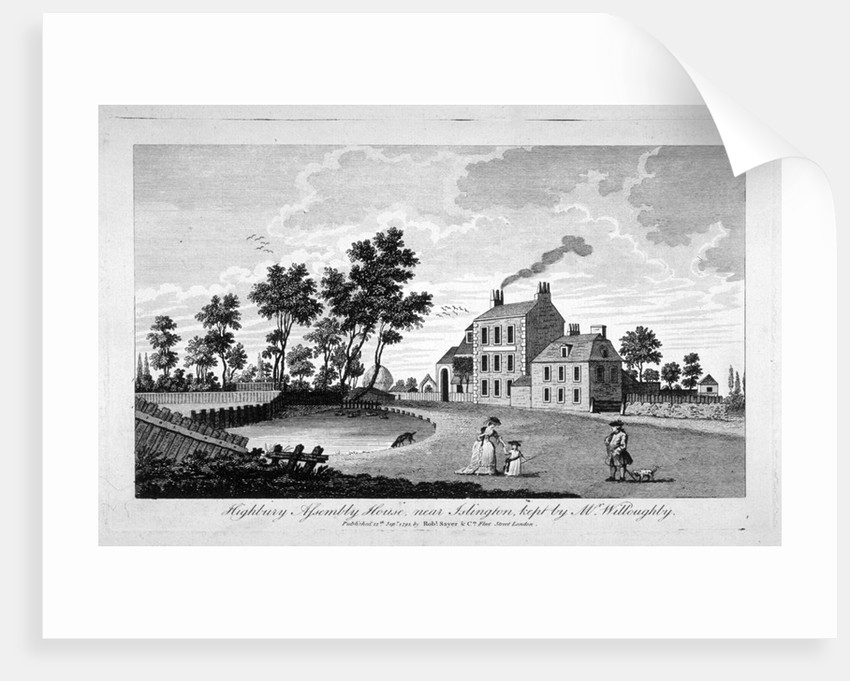 View of Assembly House, Highbury, Islington, London by Anonymous